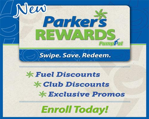 Parker's Rewards enrollment flyer