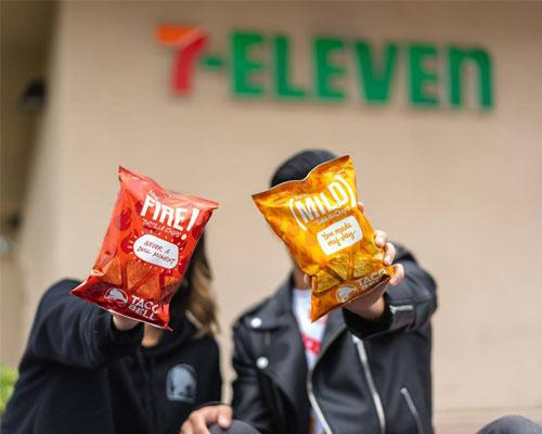 Taco Bell chips at 7-Eleven