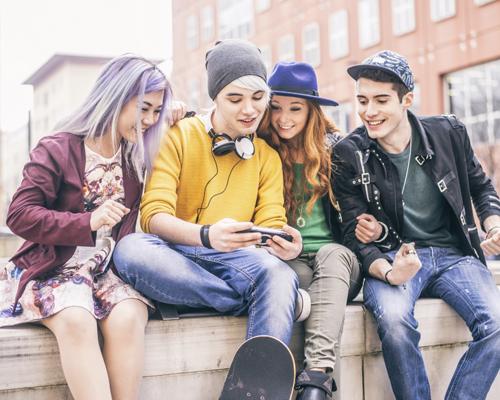 Generation Z using smartphones