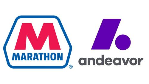 Logos for Marathon Petroleum and Andeavor