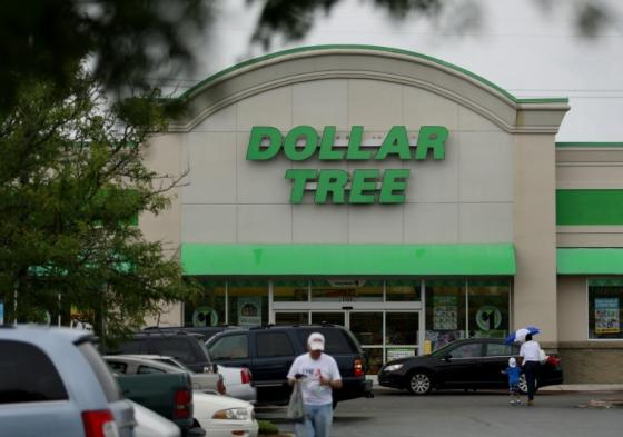 Exterior view of Dollar Tree store