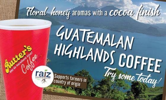 Rutter's Guatemalan Highlands coffee