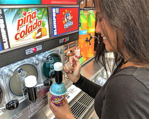 Cap'n Crunch Crunch Berries is the featured Slurpee flavor during the BOGO event.
