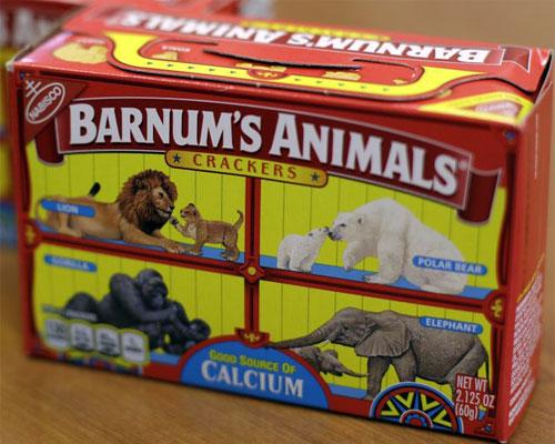 Barnum's Animals Crackers packaging design before.