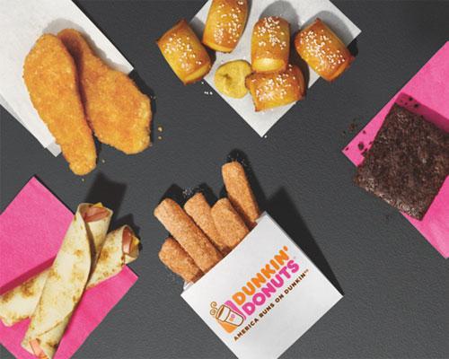 Dunkin' Run snack menu