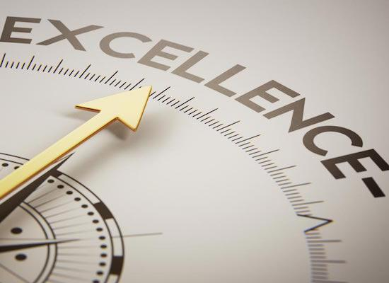 arrow towards excellence