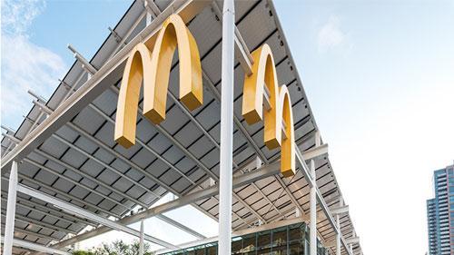 McDonald's flagship exterior