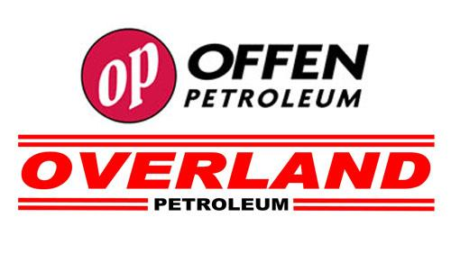 Logos for Offen Petroleum and Overland Petroleum