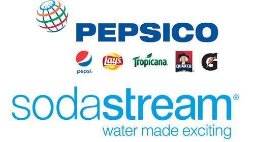 PepsiCo and SodaStream logos