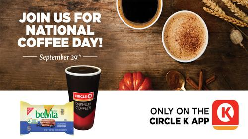 Circle K national coffee day promotion