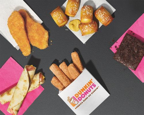Dunkin' Donuts snack menu
