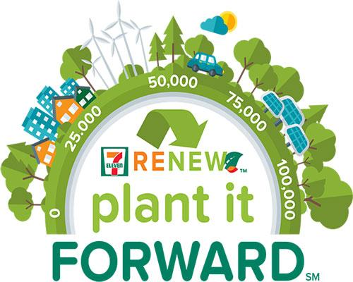 """As part of 7-Eleven's planting initiative, it launched """"Plant It Forward,"""" enabling customers to dedicate a tree to for free."""