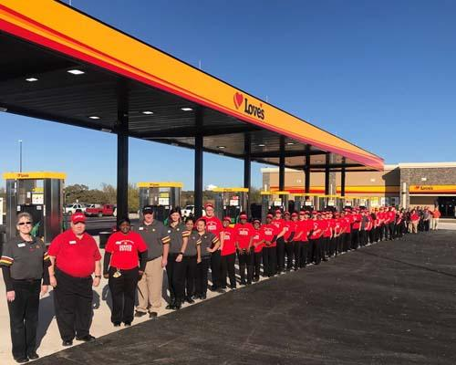 The new Love's Travel Stop in Sulphur Springs, Texas boasts 92 truck parking spaces.