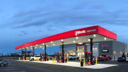 The Pilot Express in Jacksonville, Fla. features five diesel lanes and 10 gas fueling positions.