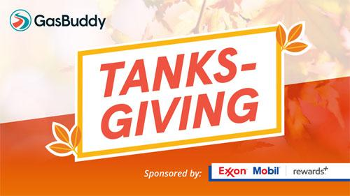 GasBuddy Tanksgiving 2018 promo