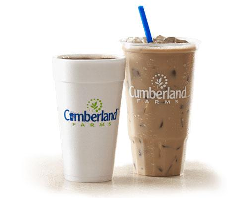 Cumberland Farms hot and iced coffees