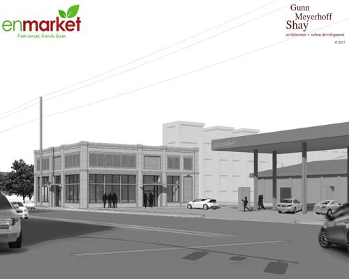 Rendering of a new Enmarket c-store planned for Martin Luther King Jr. Boulevard in Savannah, Ga. Enmarket
