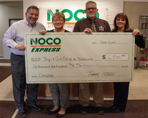 NOCO Express check to the Boys & Girls Club of the Northtowns