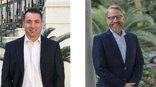 Parker's promoted Keith Saltzman, left, to director of finance and hired Corey B. McClimans as its new chief human resources officer.