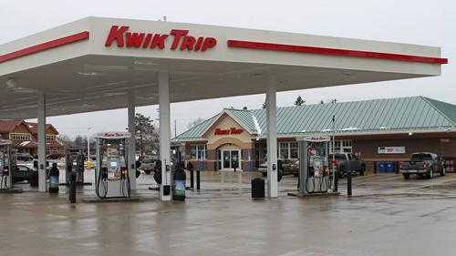 A Kwik Trip convenience store and gas station