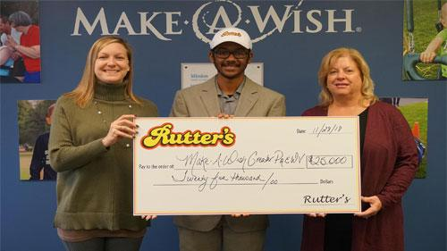 Rutter's Make a Wish donation