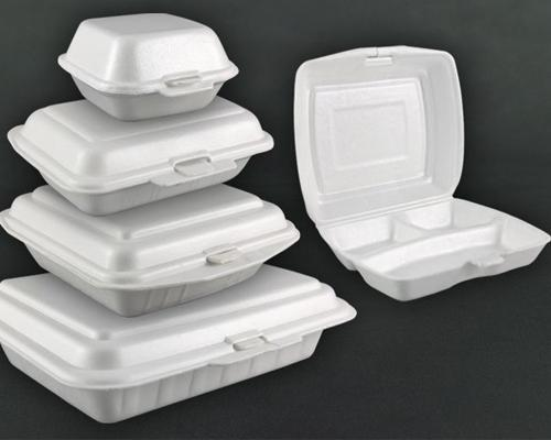 Styrofoam food packages