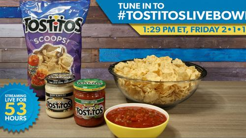 Tostitos looks to set the (unofficial) world record for the longest livestream of a tortilla chip bowl