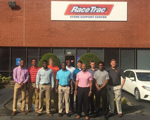 UGA student-athletes at RaceTrac's Store Support Center in Atlanta