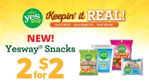 Yesway's private label snacks