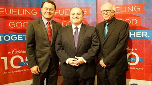 From left to right: TXOGA President Todd Staples, CITGO General Manager Community Relations, CSR and Legislative Affairs Larry Elizondo and Texas State Representative Todd Hunter