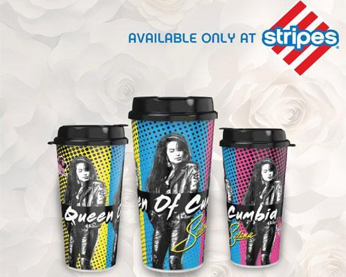 Stripes' exclusive Selena cups