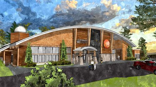 A rendering of the Adirondack Sky Center, which received a $125,000 grant from Stewart's Shops/Dake Family Foundation.