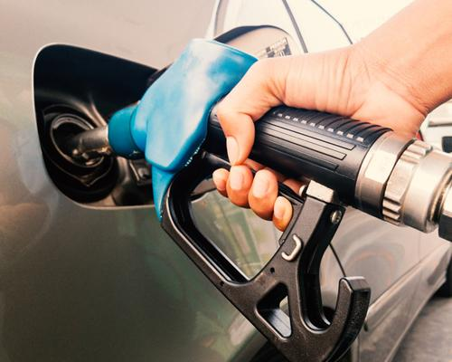 Pumping gas into a car