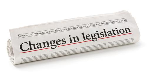 newspaper headline about changes in legislation