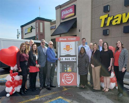"Pilot Flying J raised $1,068,243 in support of the American Heart Association's (AHA) ""Life Is Why We Give"" campaign"