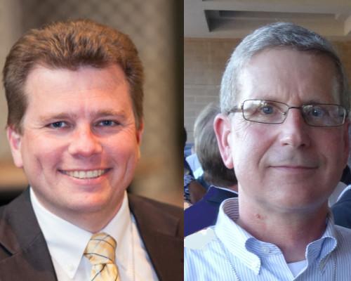 Brad Carlson and David Caruso