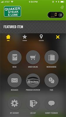 Revved-Up Rewards mobile app