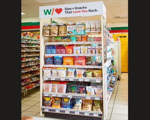 BFY snacks aisle end-cap