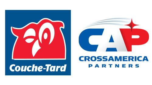 Logos for Alimentation Couche-Tard and CrossAmerica Partners
