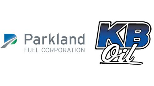 Logos for Parkland Fuel Corp and KB Oil