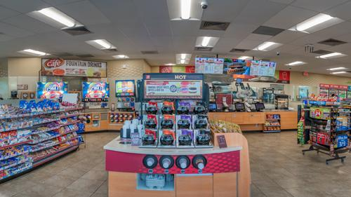 Inside a Speedway convenience store