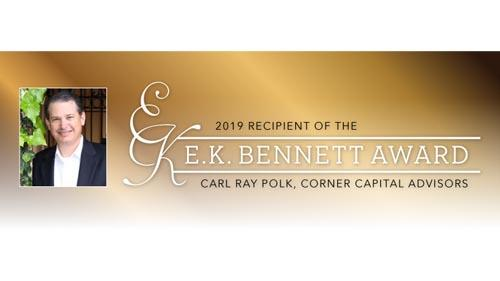 The Texas Food & Fuel Association (TFFA) selected Carl Ray Polk, principal at Corner Capital Advisors, as the 2019 recipient of the E.K. Bennett Award.