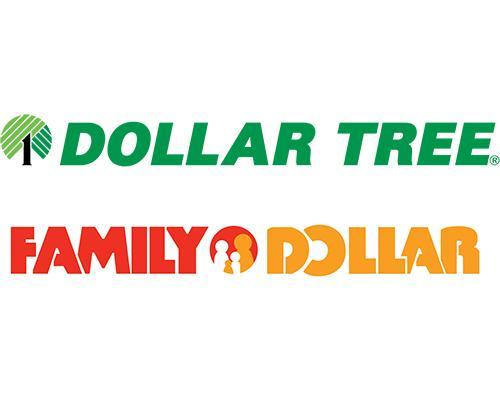 Logos for Dollar Tree and Family Dollar