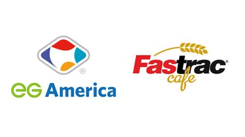 Logos for EG America and Fastrac