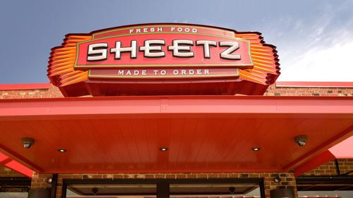 A Sheetz convenience store sign