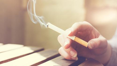 An adult smoking