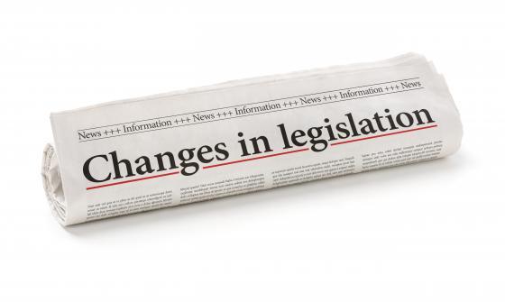 Changes in legislation newspaper headline