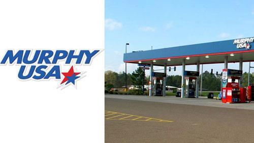 Murphy USA logo and gas station