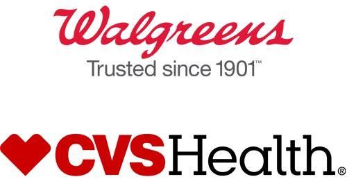Logos for Walgreens and CVS