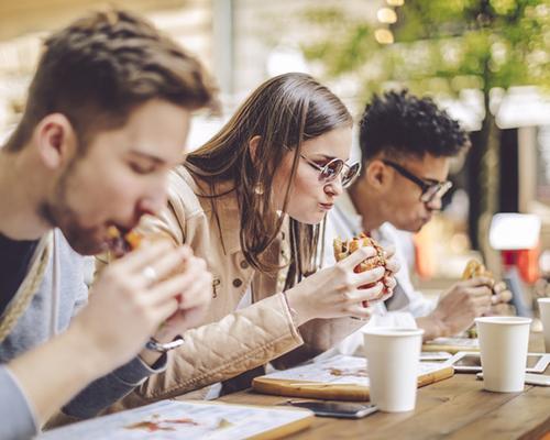 Millennials eating